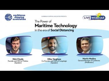 CSA webinar – 'The Power of Maritime Technology in the Era of Social Distancing'.