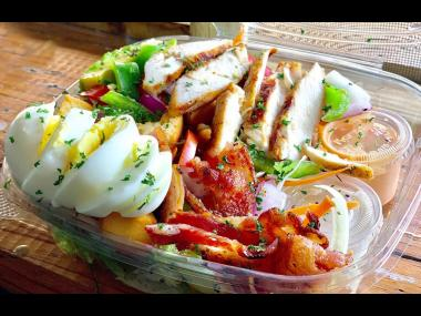 This not-so-typical chicken salad with add-ons like avocado, egg and grilled bacon, offered by Kingston Blendz, constitutes an entire meal.