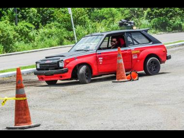 Lee Vaz had the Starlet tip toeing around the course.