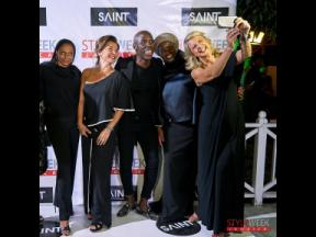 A selfie moment at Saint Int'l Style Week - Posh in Black