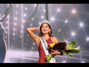 Miss Universe Mexico 2020 Andrea Meza who was crowned Miss Universe at the 69th Miss Universe Competition at the Seminole Hard Rock Hotel and Casino in Hollywood, Florida on Sunday.