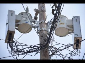 A Jamaica Public Service utility pole.