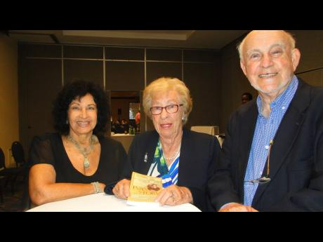 From left: Jennifer Lim, Holocaust survivor Eva Schloss, and Israeli Honorary Consul to Jamaica Ainsley Henriques at The Jamaica Pegasus hotel on Tuesday, April 2.