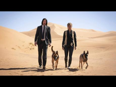 Keanu Reeves and Halle Berry in 'John Wick: Chapter 3 – Parabellum'.