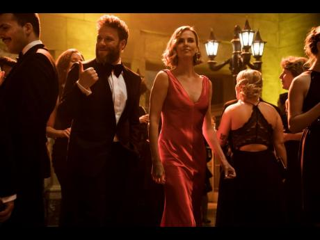 Charlize Theron and Seth Rogen are an odd couple in 'Long Shot'.