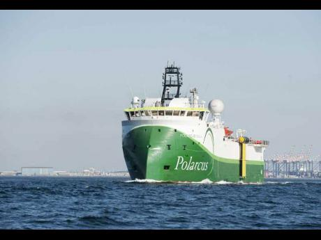 The Polarcus Adira, the state-of-the-art vessel which was used by Tullow Oil to carry out Jamaica's first-ever oil and gas exploration 3D Seismic Survey in 2018.