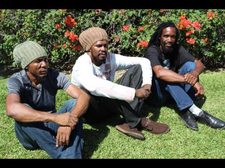 From left: Ranford 'Zareb' McCurdy, Suga Roy and Conrad Crystal.
