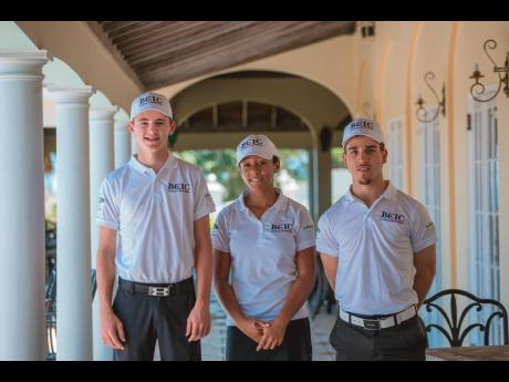 From left: BCIC National Junior team members Justin Burrowes, Emily Mayne and Rocco Lopez.