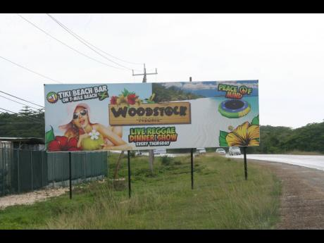 A billboard allegedly erected illegally in Hanover.