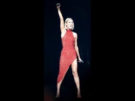 Singer Celine Dion performs during her first World Tour show called Courage at the Videotron Centre, Wednesday, September 18, in Quebec City.