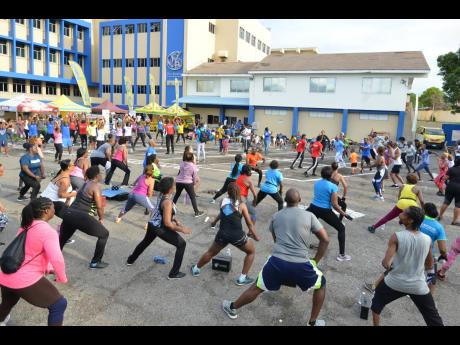Close to 300 persons turned out for the launch of Season 3 of The Gleaner's Fit 4 Life health and fitness programme at the media house's 7 North Street, Kingston, headquarters.