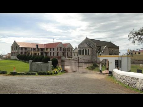 The ancient buildings at the entrance of Munro College at Malvern, St Elizabeth.