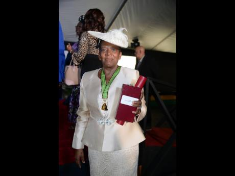 Marva Lawson-Byfield is proud of being inducted into the Order of Distinction in the rank of Commander for her contribution to the field of health.