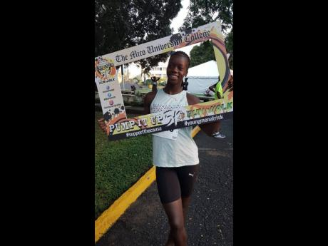 National 400m runner Tiffany James, pictured here, was one of the competitors in the Mico Pump It Up 5k Run/Walk held in Cross Roads, Kingston yesterday.