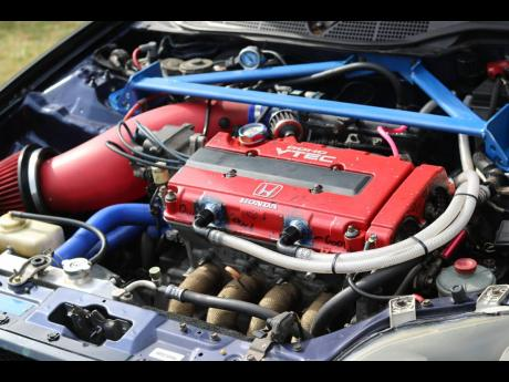 Under the hood of Mark Newman's 1996 Honda Ek4 SIR Civic