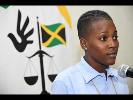 Moya Blackwood speaks at a public forum on incarcerated children at Spanish Court Hotel in New Kingston yesterday. She warned that gaps in state care could result in more harm than protection for children.