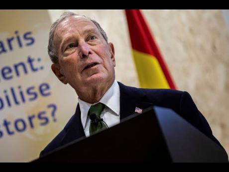 Democratic presidential contender Michael Bloomberg attends a sustainable finance panel at the COP25 summit in Madrid on Tuesday, December 10.