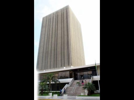 The Bank of Jamaica in downtown Kingston.