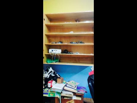 Empty shelves that were once laden with laptops and tablets. Little London Primary School in Westmoreland has been targeted by thieves over the last three weeks.