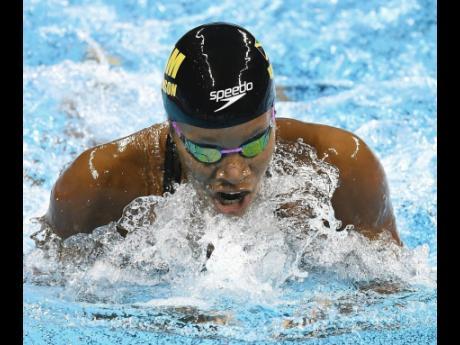 FILE Alia Atkinson in action in the women's 100m breaststroke semi-finals at the 2016 Olympics in Rio de Janeiro, Brazil.