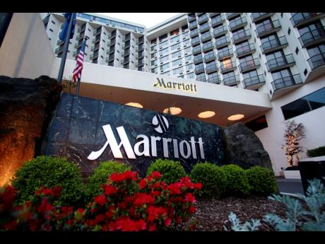 This April 20, 2011 file photo shows Portland Marriott Downtown Waterfront in Portland, Oregon. Marriott, the world's largest hotel company, said on Tuesday, March 31, 2020, that it has experienced a major data breach, its second in less than two years.