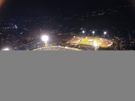 FILE An aerial shot during the final day of activities at the ISSA/GraceKennedy Boys and Girls' Athletics Championships at the National Stadium in Kingston on Saturday, March 30, 2019.