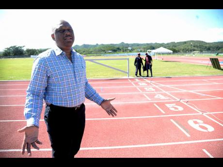 Sprintec Track Club head coach Maurice Wilson at the club's base at the G.C. Foster College of Physical Education and Sport in St Catherine.