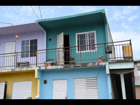 The apartment on Dumfries Street in Denham Town, west Kingston, where eight-year-old Toya Brown was shot and killed by a lone gunman on Wednesday.