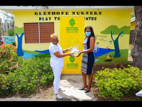 Abrahams was pleased  to make a presentation to  Fayola Cole of Glenhope, which was the first stop in a four-day activation.