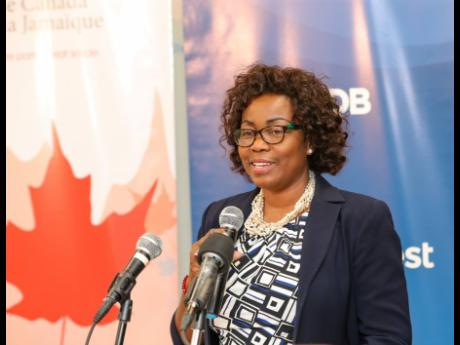 President of the Global Services Association of Jamaica, Gloria Henry.