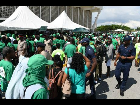 File photos Party supporters at the Jamaica Labour Party's 75th anniversary conference at the National Arena on Sunday, November 18, 2018.