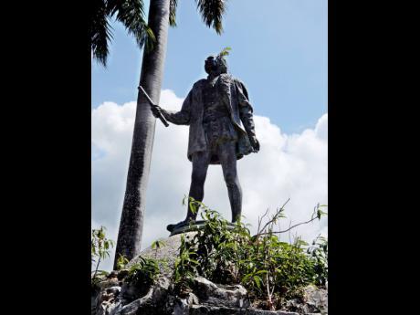 Statue of Christopher Columbus.