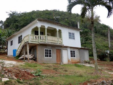 The house where Donovan Davis was killed in Woodstock, St Ann.