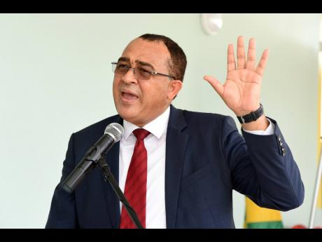 Dr Christopher Tufton, minister of health and wellness, speaking at the opening of a new high-dependency unit at the Bustamante Hospital for Children on Tuesday.