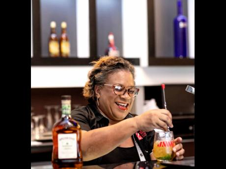 With just a few ingredients you can stir up your own cocktails, cheers to beating the heat with your Stormy Valley cocktail, which JWN Academy lead, Sharmon Hinds-Smith showed off during the recent JMMB Goal Getter Live Series.