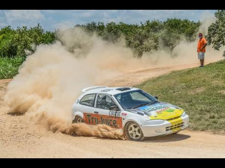 International rallycross driver Fraser McConnell honed his skills in the dirt on the Bog Walk rally courses.