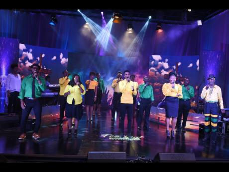 The 2020 Jamaica Gospel Song Competition finalists in action.