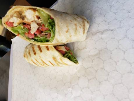 This signature grilled chicken wrap will have you wanting more after just one bite.