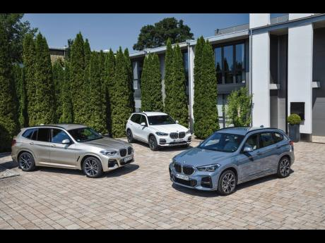 BMW X1, X2 and X3.