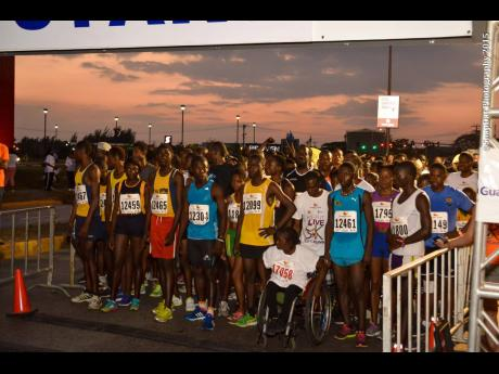 Racers at the line preparing to start a recent running of the Guardian Group Keep It Alive 5K Walk/Run event in Montego Bay, St James.