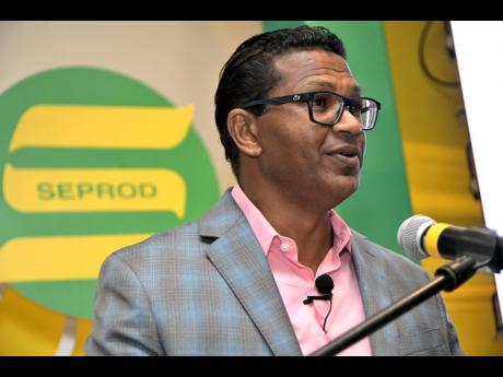 Richard Pandohie, CEO of Seprod Limited, speaks at the company's annual general meeting at The Jamaica Pegasus hotel in New Kingston on Monday, September 21, 2020.