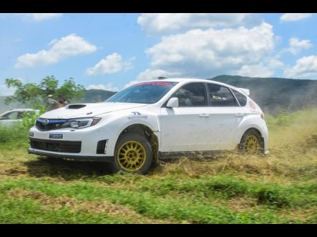 Lee Vaz taking his STi out for some testing.