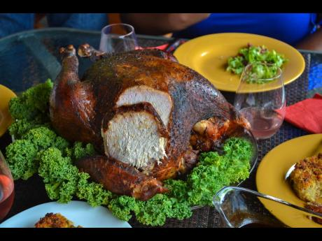 Carved to precision, the jerked turkey is great freshly baked and as a leftover.