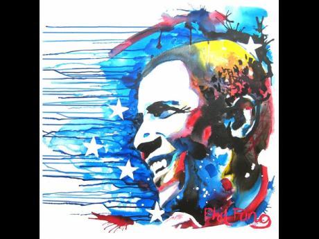 The 'Stars and Stripes' portrait of former US President Barack Obama has garnered global recognition.