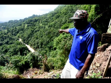 Peter Clarke explains what took place on night of November 7 when heavy rains from Tropical Storm Eta cause a massive landslide that threatens the very foundation of his home.