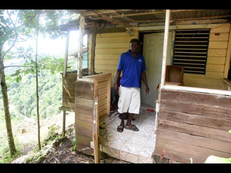 The is Peter Clarke's home on the edge. The foundation of his home was severely damage by a massive landslide during heavy rains from Tropical Storm Eta.