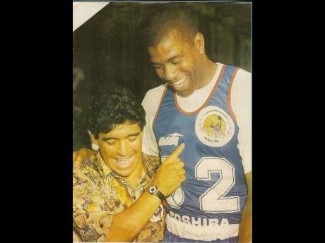 Maradona and Magic Johnson