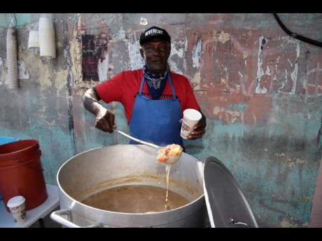 """Nobody cyaan come pon Arnold Road and nuh get a Real Life soup,"" were the words of Thomas Swearing, also known as 'Real Life'. Swearing has been selling soup for almost 50 years."