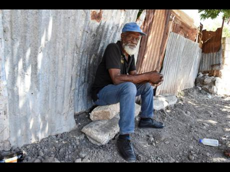 Anthony Davis, a resident of Weise Road, lost his only source of financial support – his son – in April. Davis, 66, says he has been muscled out of the labour market by younger workers who lay steel faster than he does.