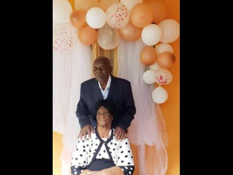 Moreen and Reginald Francis celebrating their 54th wedding anniversary on December 27.
